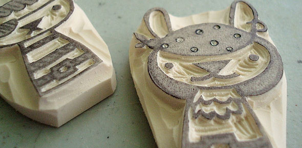 Hand Carved Rubber Stamps DIY 1 Simply University