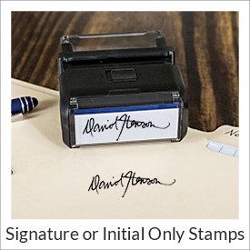 signature stamp initial signature stamps ships next day