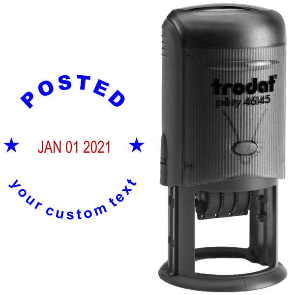 Custom Posted Round Dater Stamp Body and Design