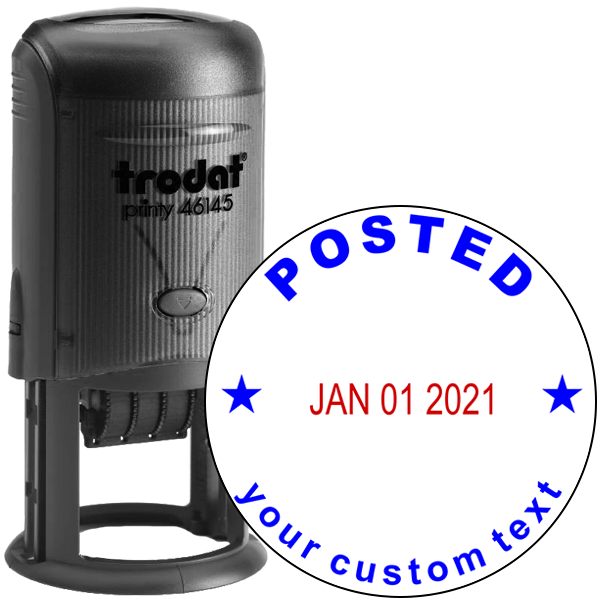 Custom Posted Round Dater Stamp