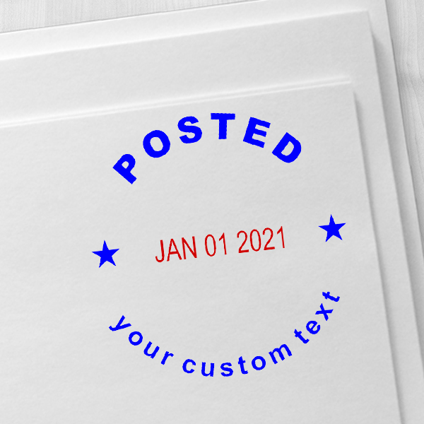 Custom Posted Round Dater Stamp Imprint Example