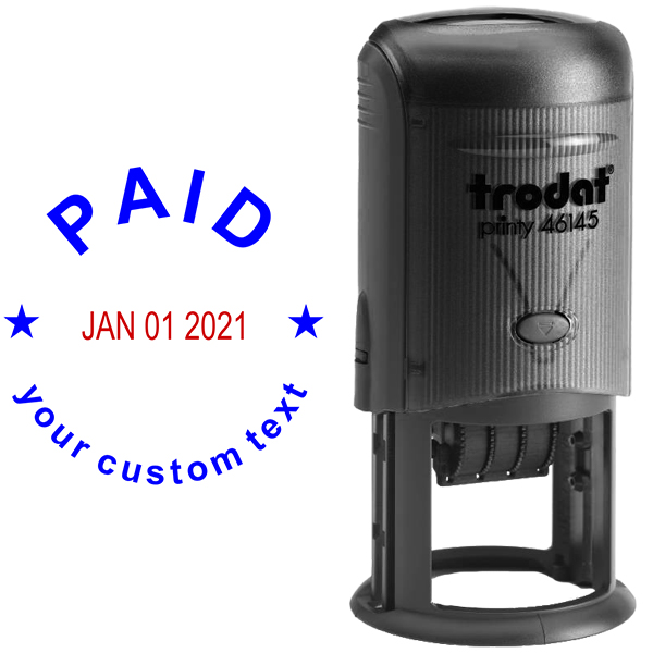 Custom Paid Round Dater Stamp Body and Design