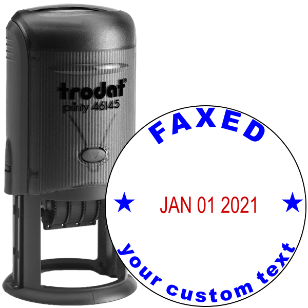 Custom Faxed Round Dater Stamp