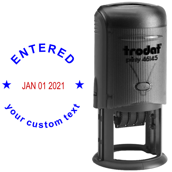 Custom Entered Round Dater Stamp Body and Design
