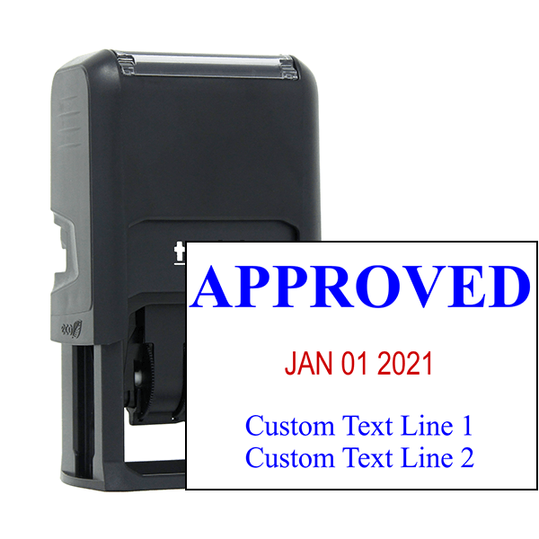 Approved Custom Two Line Dater Stamp