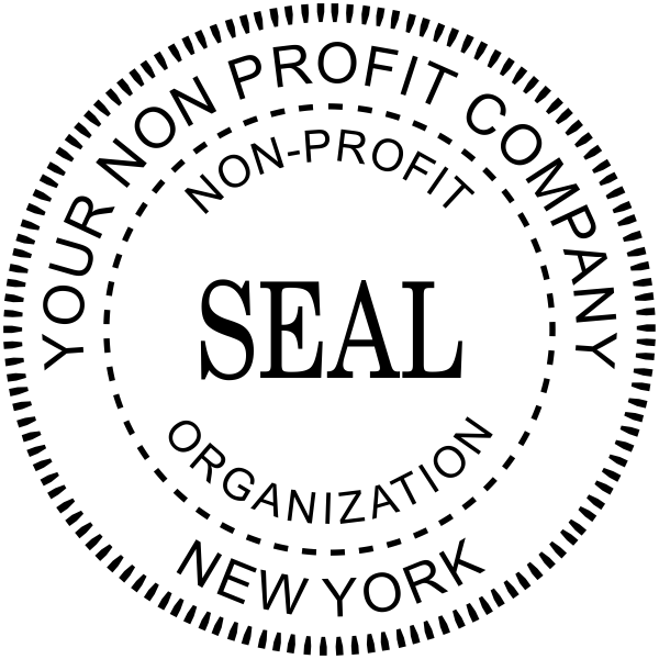 Non Profit Organization Seal Stamp