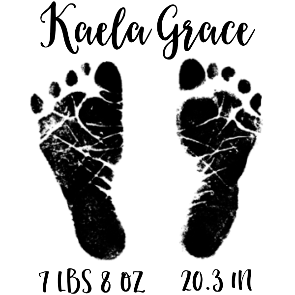Custom Baby Footprints Craft Stamp Simply Stamps