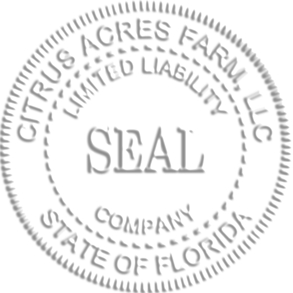 Limited Liability Company Seal Embossed Impression