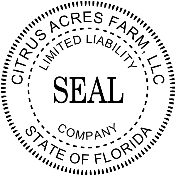 Custom llc seal stamp standard professional seal for Common seal template