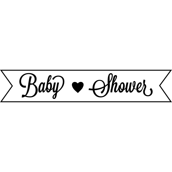 TE Baby Shower Banner Rubber Stamp