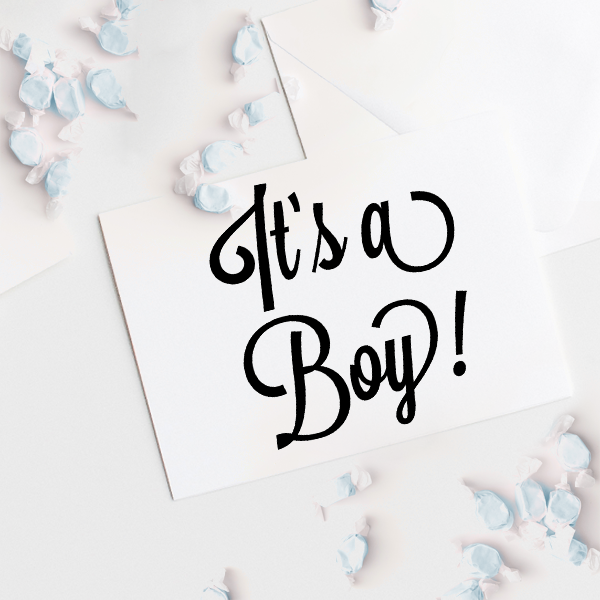 It S A Boy Script Font Rubber Stamp Simply Stamps