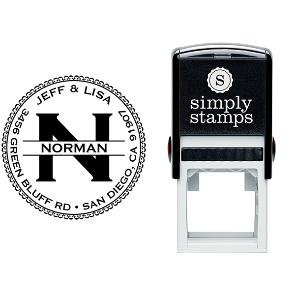 Norman Round Address Stamp Body and Imprint
