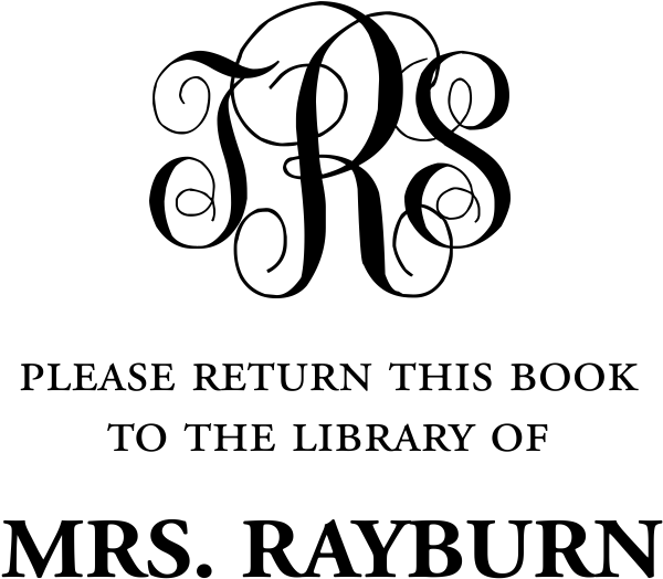 Taylor Elliott Library Monogram Teacher Stamp