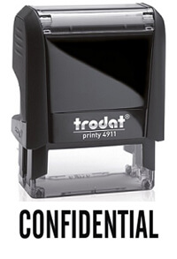 Confidential office rubber stamp