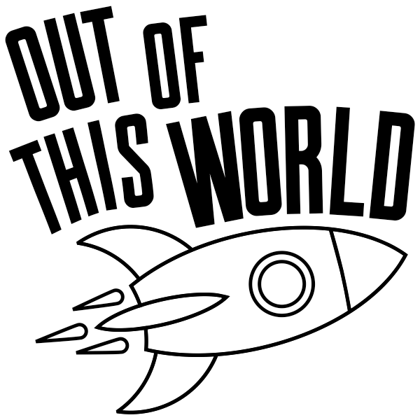 Out of This World Rocket Round Teacher Stamp