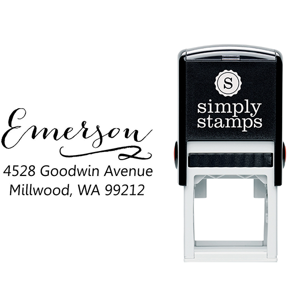 Emerson Swash Address Stamp Body and Design