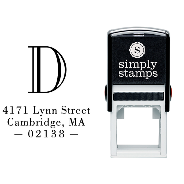 Cambridge Monogram Address Stamp Body and Design