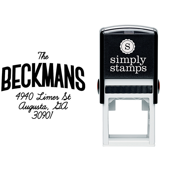 Beckman Banner Style Address Stamp Body and Design