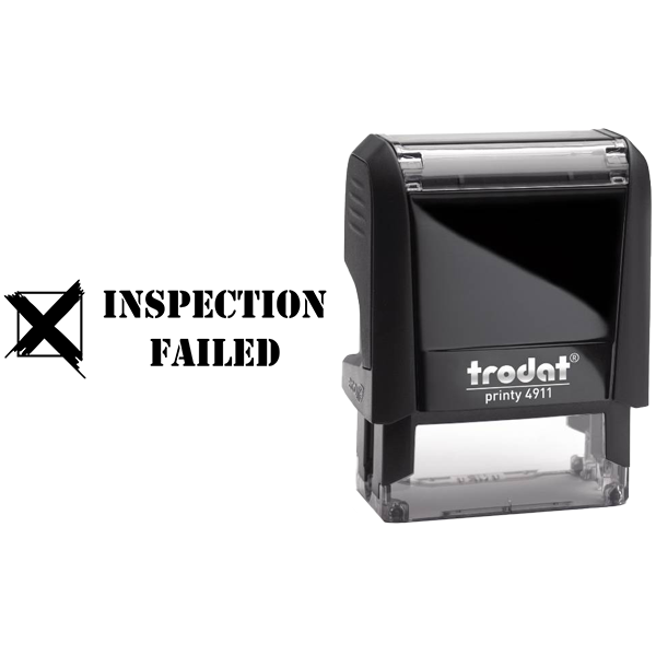 Inspection Failed Rubber Stamp Body and Design