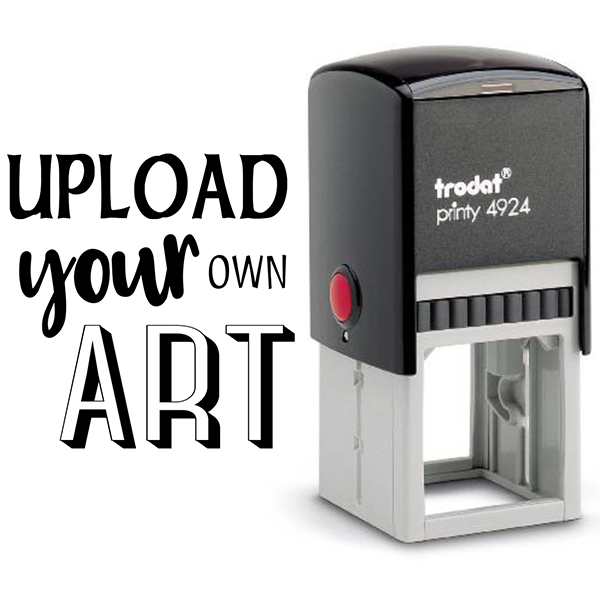 Upload Your Art Self-Inking Rubber Stamp Body and Design