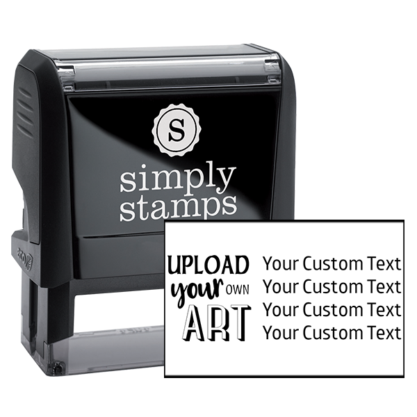 Upload Your Own Art Custom Text Rubber Stamp