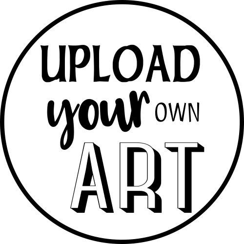 Round Upload Your Own Art Rubber Stamp