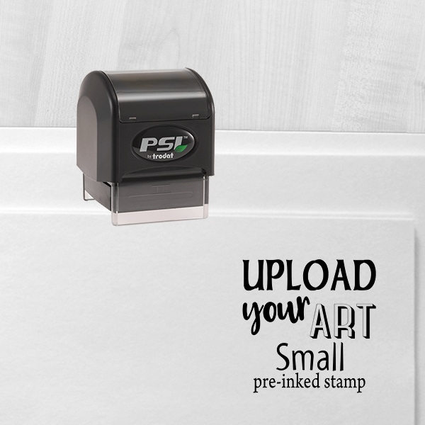 Upload Your Art Small Pre-Inked Stamp
