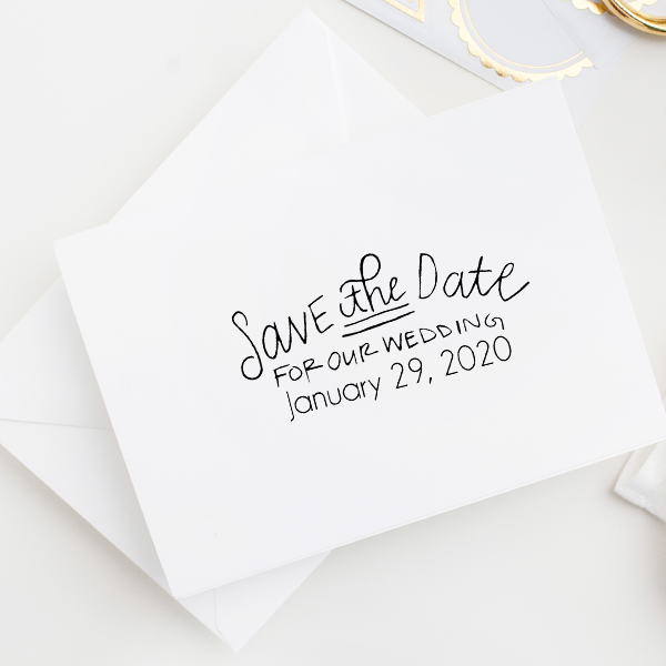 Save the Date Stamp Imprint Example