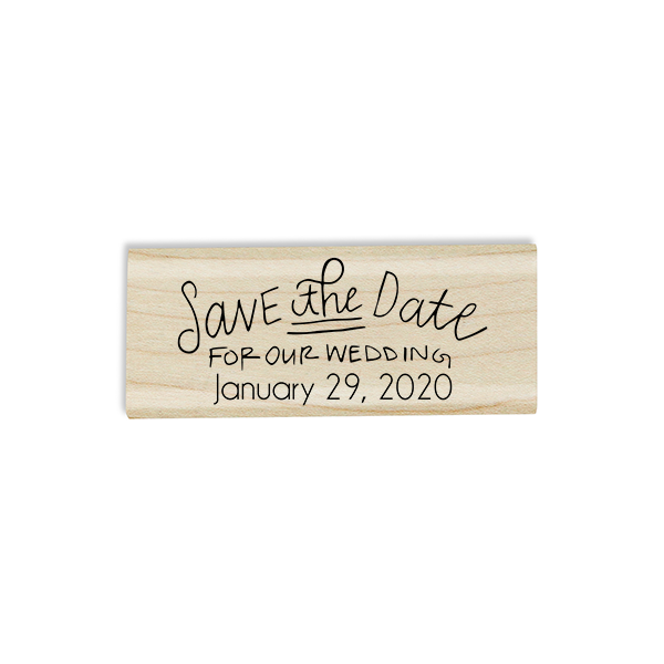 Save the Date Stamp Design on Stamp Body