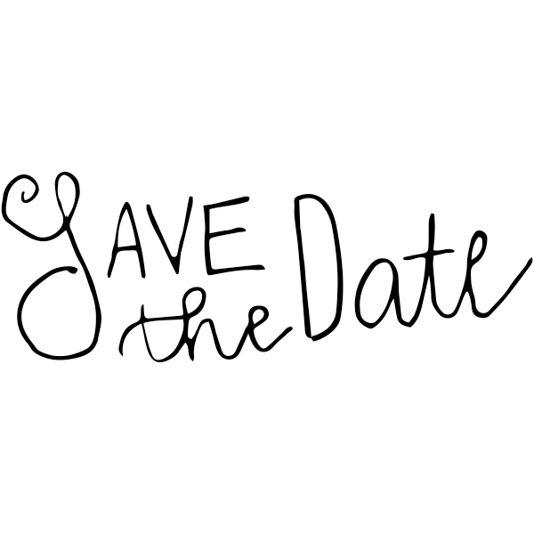 Simple Save the Date Stamp