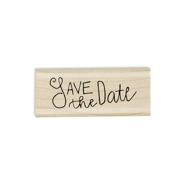 Simple Save the Date Stamp Design on Stamp Body
