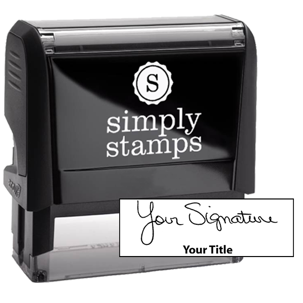 Extra Large Signature Title Stamp