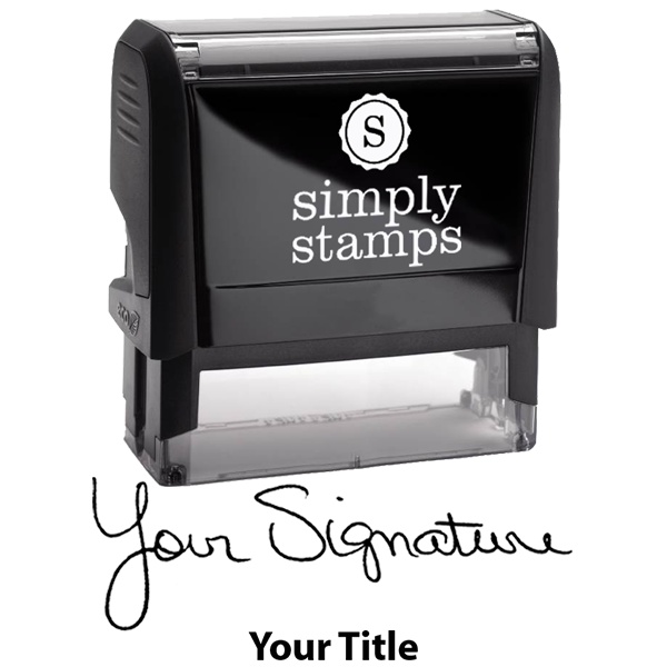 Extra Large Signature Title Stamp Body and Design