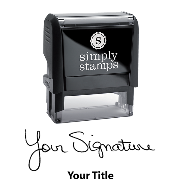 Large Signature Title Stamp Body and Design