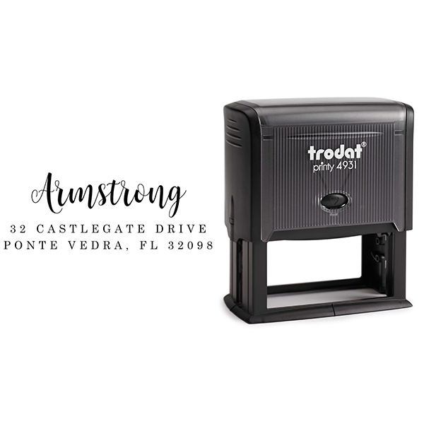 Armstrong Address Stamp Body and Design