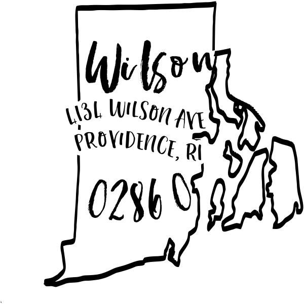 Custom Rhode Island Address Stamp
