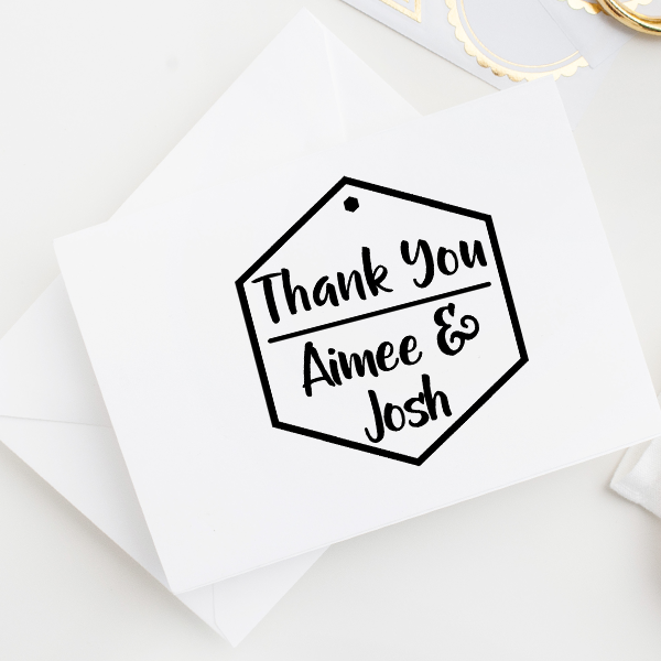 Honeycomb Thank You Stamp Imprint Example