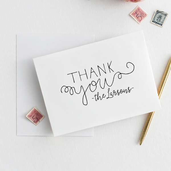Mix Type Thank You Stamp Imprint Example