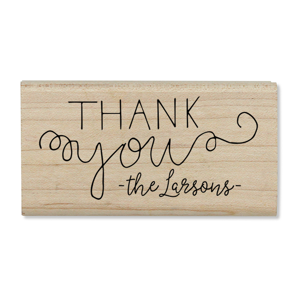 Mix Type Thank You Stamp Body and Design