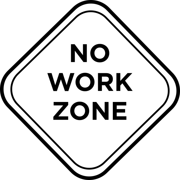 Taylor Elliott No Work Zone Stamp Simply Stamps