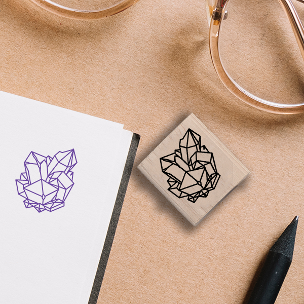 Gem Cluster Stamp Lifestyle Photo and Imprint Example