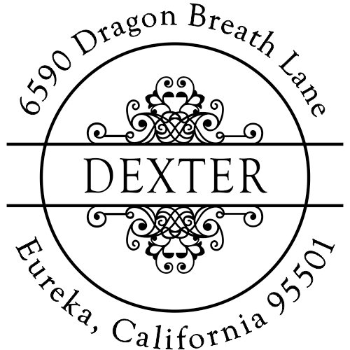 Dexter Vintage Deco Return Address Stamper