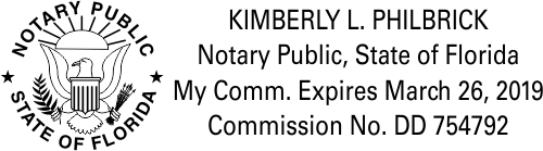 Florida Notary Public with Great Seal & Rising Sun