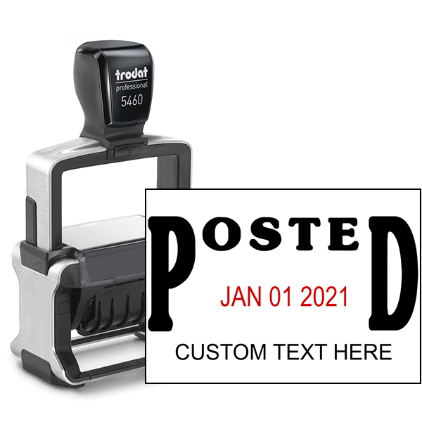 Posted Date Stamp on paper image