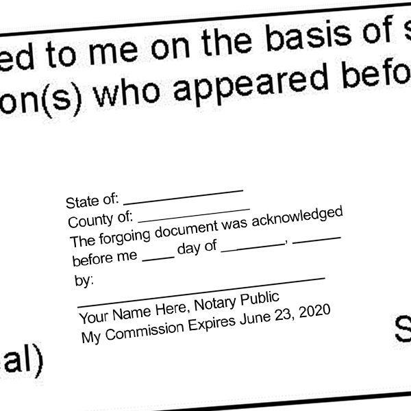 Acknowledgement in an Individual Capacity Notary Stamp  Imprint Example
