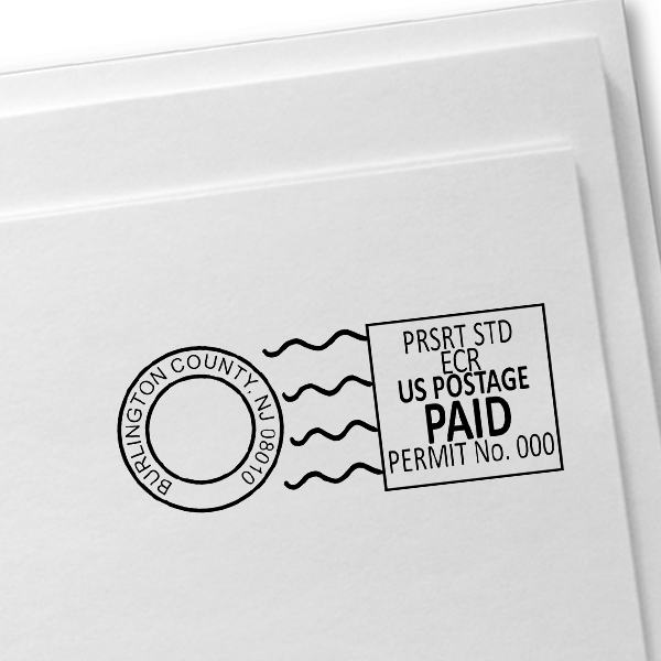 Pre-Sorted Marketing Mail Permit Stamp  Imprint Example