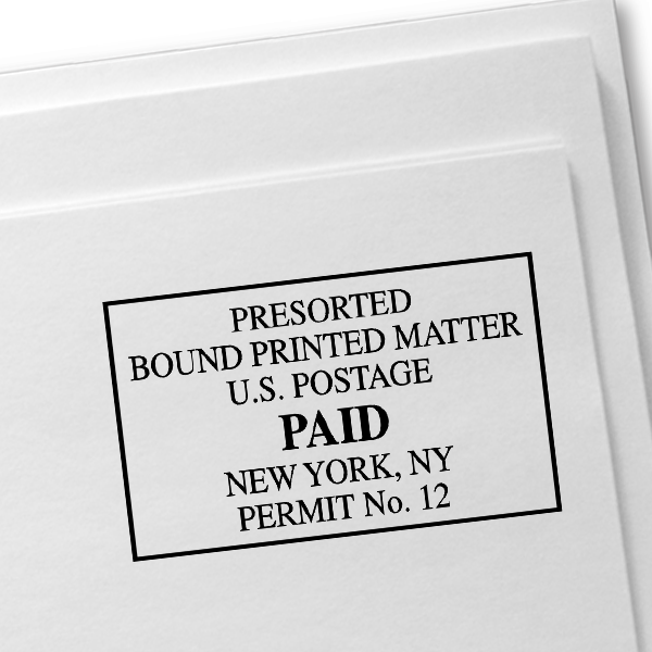 Package Services Mail Permit Stamp  Imprint Example