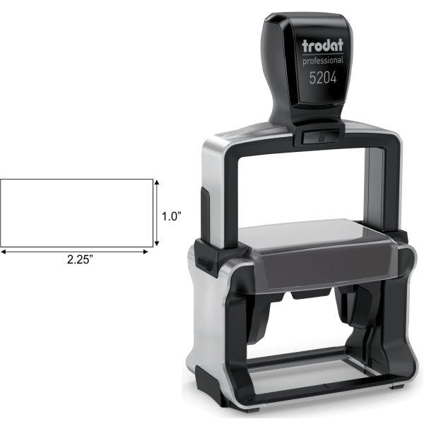 Trodat Professional 5204 Custom Text Stamp Body and Imprint Size