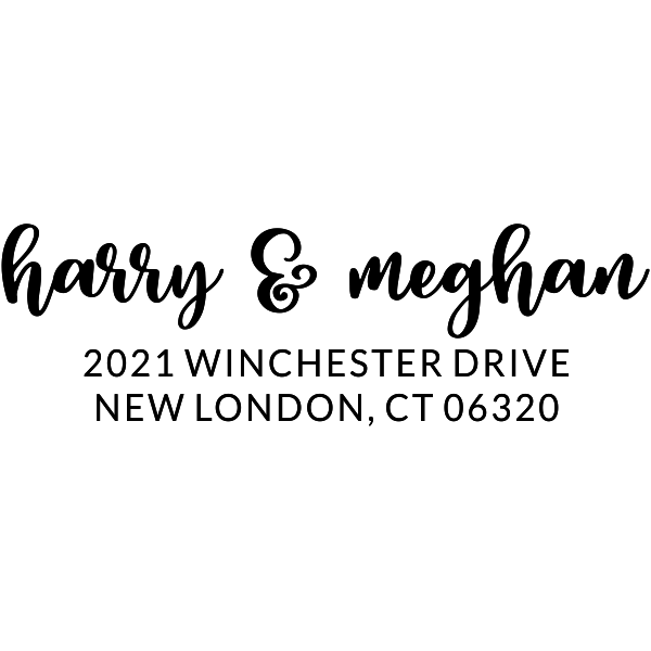Winchester Pink Address Stamp Imprint Example