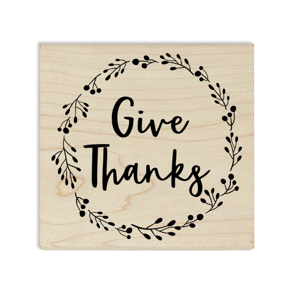 Give Thanks Wreath Craft Stamp Body and Design